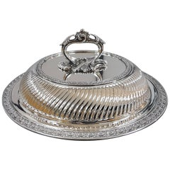 20th Century Italian Sterling Silver ceased Entree Dishe