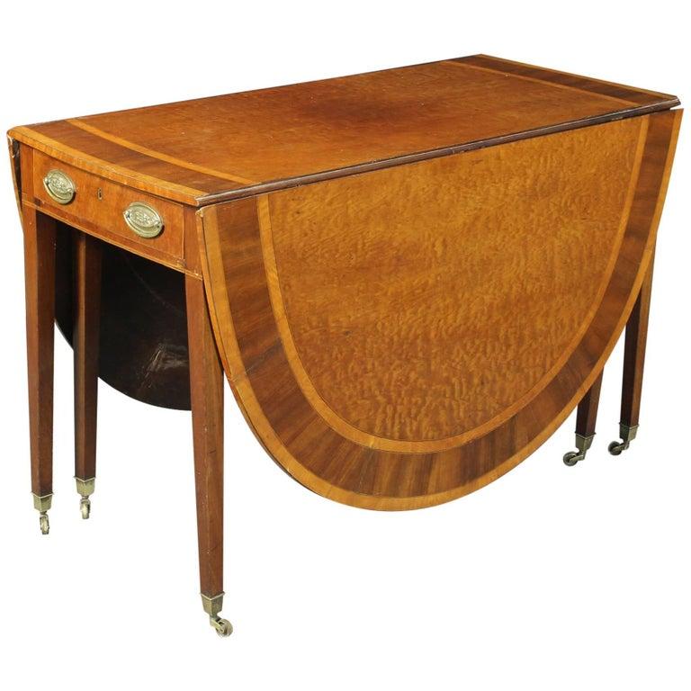 George III Drop-Leaf Dining Table