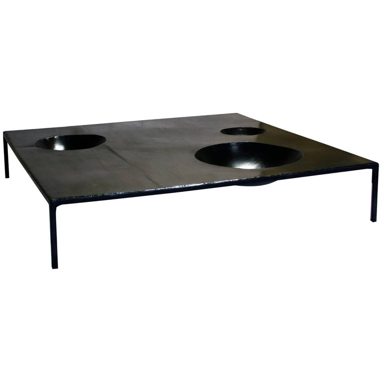 Pleasant Large Modern Coffee Table Handmade Geometric Blacked Steel By J M Szymanski Gmtry Best Dining Table And Chair Ideas Images Gmtryco