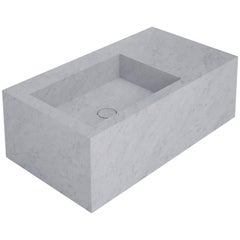 Salvatori Right Handed Stiletto 90 Basin in Bianco Carrara Marble
