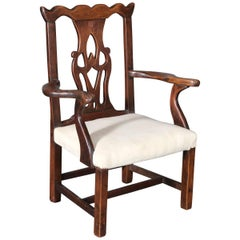 Child's Mahogany Chippendale Chair with Pierced Back Splat