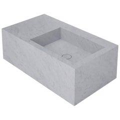 Salvatori Left Handed Stiletto 90 Basin in Bianco Carrara Marble