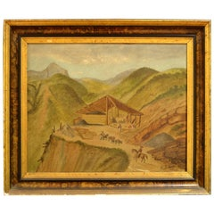 Mine Landscape by H. F. Arriola, dated 1880