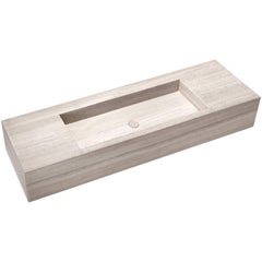 Salvatori Stiletto 180 Wall-Mounted Basin in Silk Georgette® Natural Stone