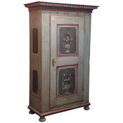 Painted, 1812 Austrian Wedding Cabinet