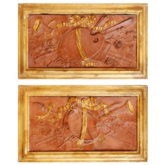 Pair of 18th Century Terra Cotta Trophy Reliefs