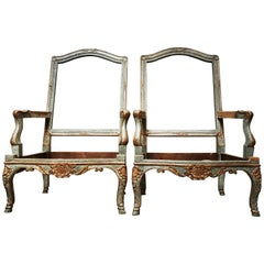 Pair of French Regence Style Fauteuils