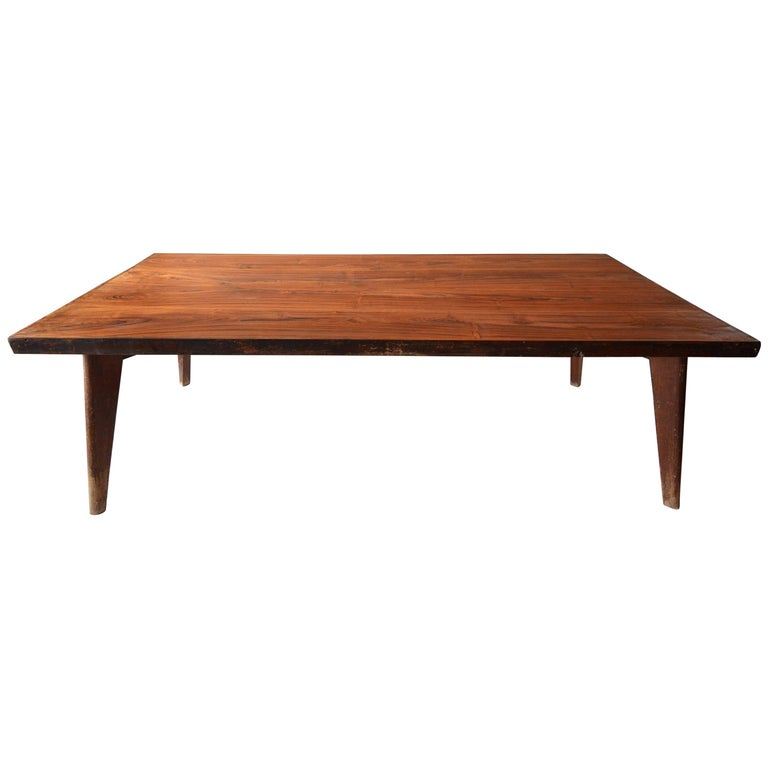 Rare & Correct Large Pierre Jeanneret PJ-TA-01 Table for Chandigarh, circa 1960 For Sale