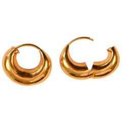 18Kt Yellow Gold Hoop Earrings