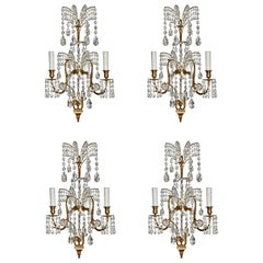 Set of Four 19th Century Neoclassical Sconces in Manner of Schinkel