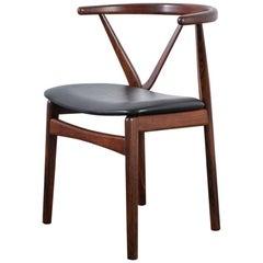 Bruno Hansen Rosewood Chair, Denmark, 1960s