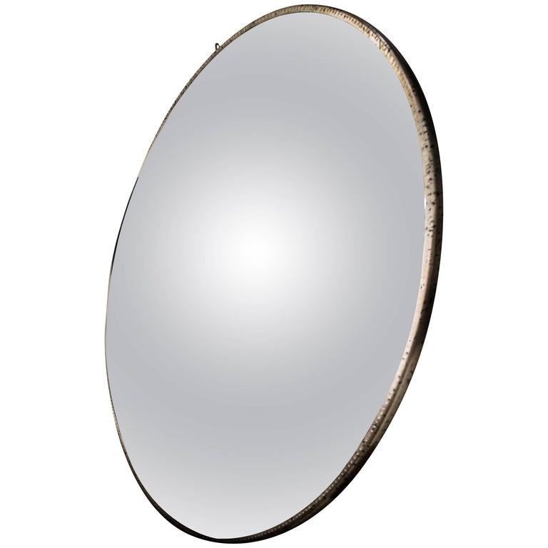 Large Convex Mirror, from France, S XXI , Chrystal and Metal