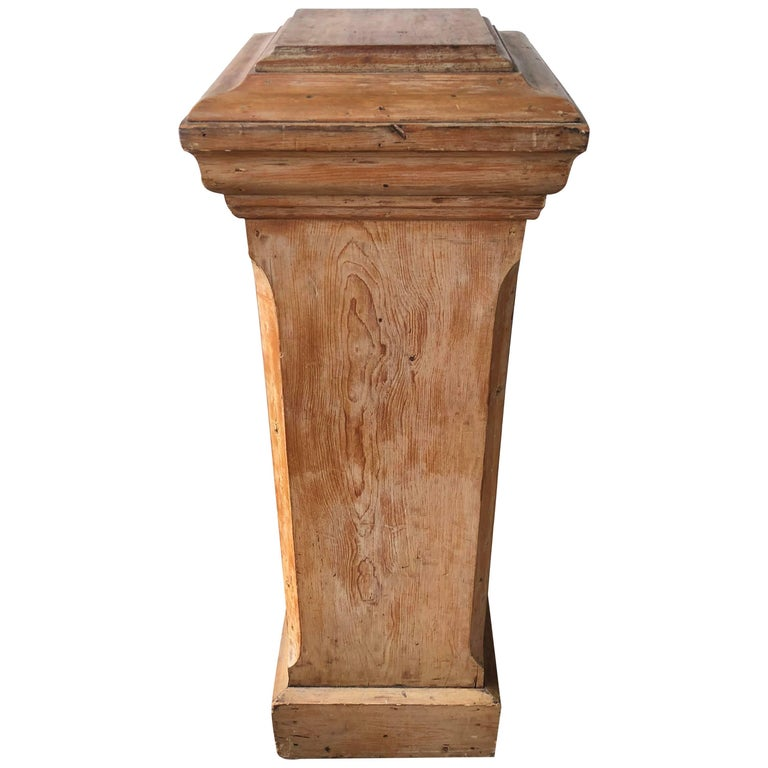 Bleached Pine Pedestal