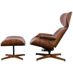 George Mulhauser for Plycraft 'Mr. Chair' Lounge Chair and Ottoman, 1960s