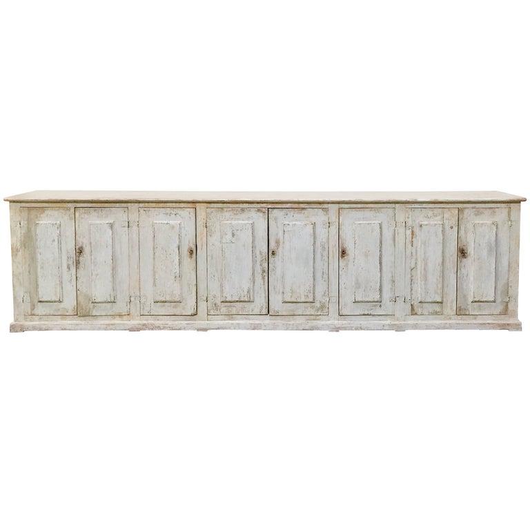 18th century Italian 8 Door Sideboard For Sale