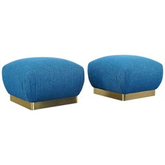 "Vintage Oversized Brass ""Poufs"" by Marge Carson"