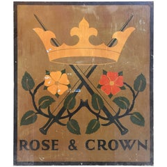 Rose & Crown/Spotted Dog Hand Painted English Pub Sign