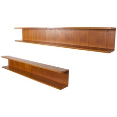 Set of Four Teak Wall Shelves by Gunther Renkel for Rego, 1960s