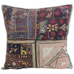 Vintage Large Colorful Indian Floor Decorative Pillow