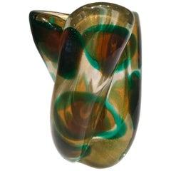 "Archimede Seguso, Murano Vase ""Macchia Ambra Verde"", 1952"