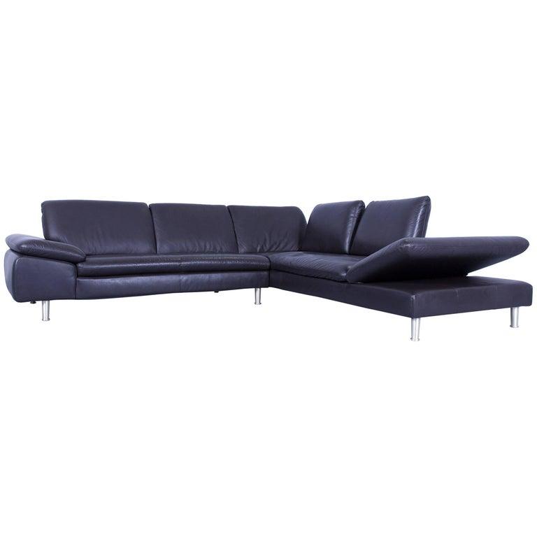 willi schillig designer corner sofa leather brown mocca. Black Bedroom Furniture Sets. Home Design Ideas