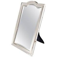 Edwardian Sterling Silver Vanity Mirror