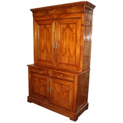 19th Century French Louis Philippe Buffet a´ Deux Corps, Armoire