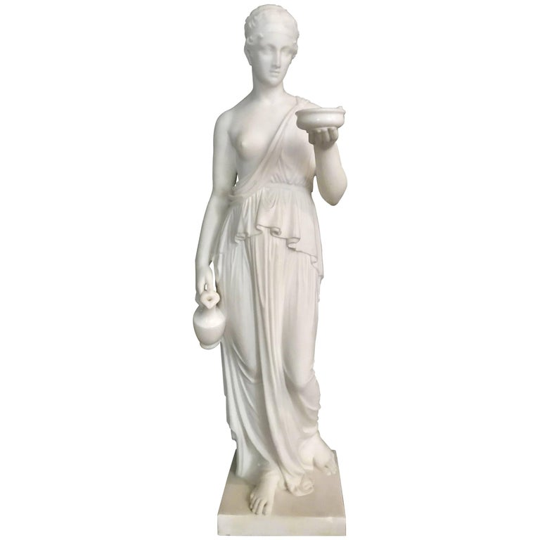 Marble Statue of Hebe For Sale