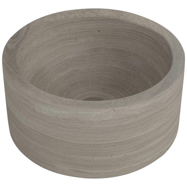 Salvatori Pozzo Basin in Silk Georgette® Natural Stone For Sale