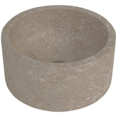 Salvatori Pozzo Basin in Light Travertine Natural Stone