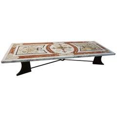 19th Century Inlay Italian Marble Table