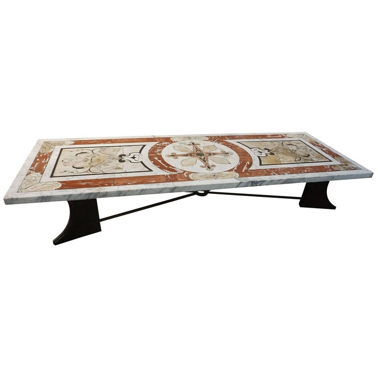 19th Century Inlay Italian Marble Table