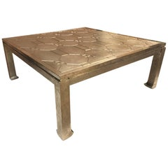 Silver Clad Coffee Table Style of James Mont