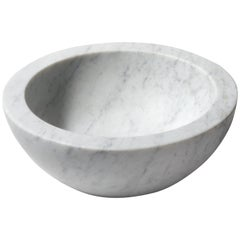Salvatori Zuppiera Basin in Bianco Carrara Marble