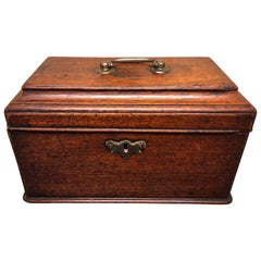 Large 19th Century English Tea Caddy