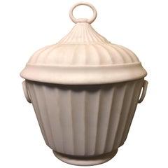 Neoclassical Bisqueware Chestnut Urn