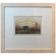 20th Century Dutch Architectural Interior Rendering