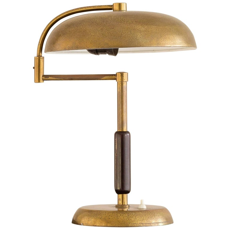 Brass adjustable arm table lamp for sale at 1stdibs for 2 arm table lamp