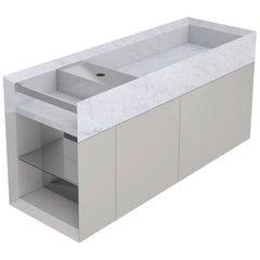 Salvatori Onsen Cabinet Basin in Bianco Carrara Marble by Rodolfo Dordoni