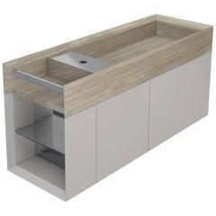 Salvatori Onsen Cabinet Basin, Silk Georgette® Natural Stone by Rodolfo Dordoni