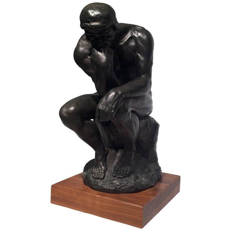 """Auguste Rodin Sculpture, """"Le Penseur"""""""