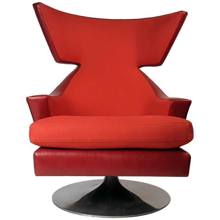 Norah Swivel Armchair By M2 Atelier For Giorgetti For Sale