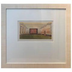 20th Century, Dutch Architectural Interior Rendering