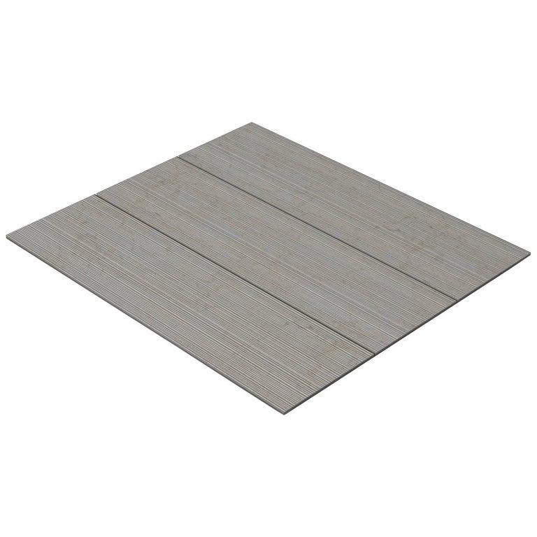 Salvatori Filo Flush 3 / 100 Shower Tray in Bamboo Texture Crema d'Orcia Stone For Sale