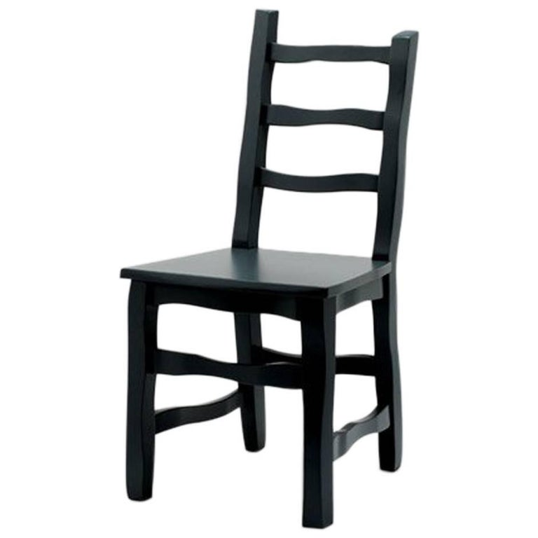 Established & Sons Standard Unique Dining Chair in Black Grey For Sale