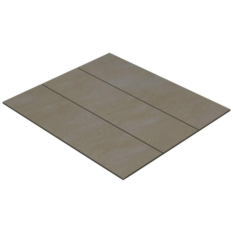 Salvatori Filo Flush 3 / 100 Shower Tray in Sandblasted Piombo Stone For Sale