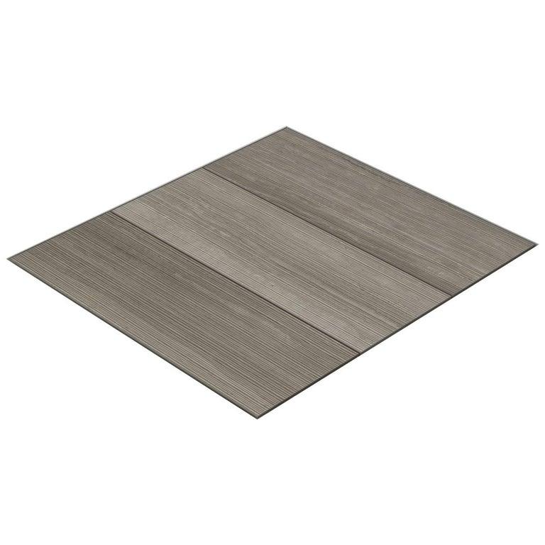 Salvatori Filo Flush 3 / 80 Shower Tray in Bamboo Texture Silk Georgette® Stone For Sale