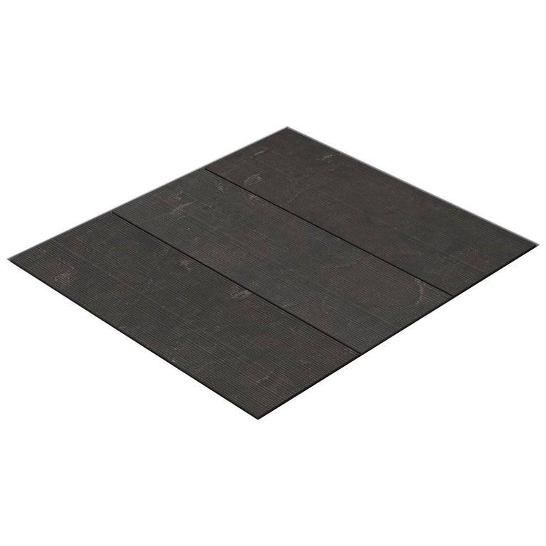 Salvatori Filo Flush 3 / 80 Shower Tray in Bamboo Texture Pietra d'Avola Stone For Sale