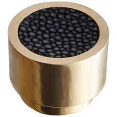 Caviar Dial Solid Brass Knob with Shagreen Inlay