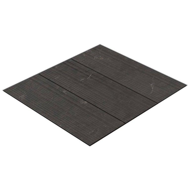 Salvatori Filo Flush 3 / 80 Shower Tray in Raw Texture Pietra d'Avola Stone For Sale